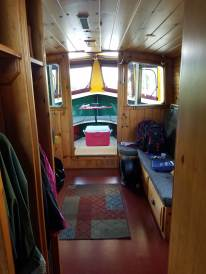 The view from the bedroom to the bow