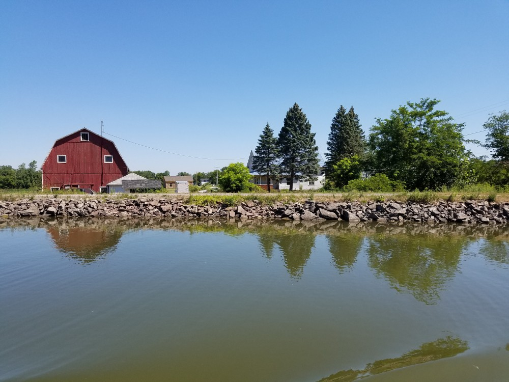 A farmhouse along the western section of the Erie Canal