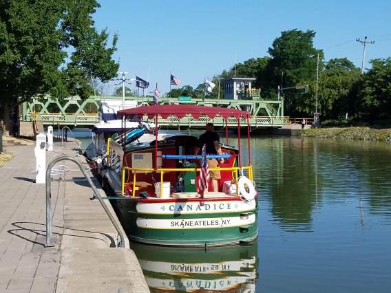Canalboat Canadice Docked in Brockport, NY
