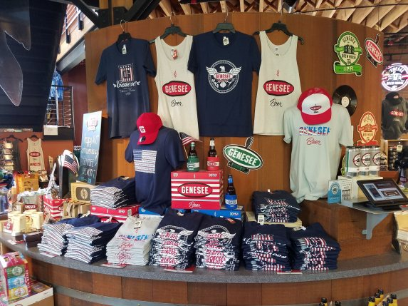 Genesee Brewery t-shirts and hats