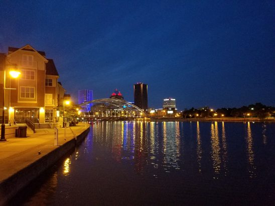 Nighttime in Rochester, NY