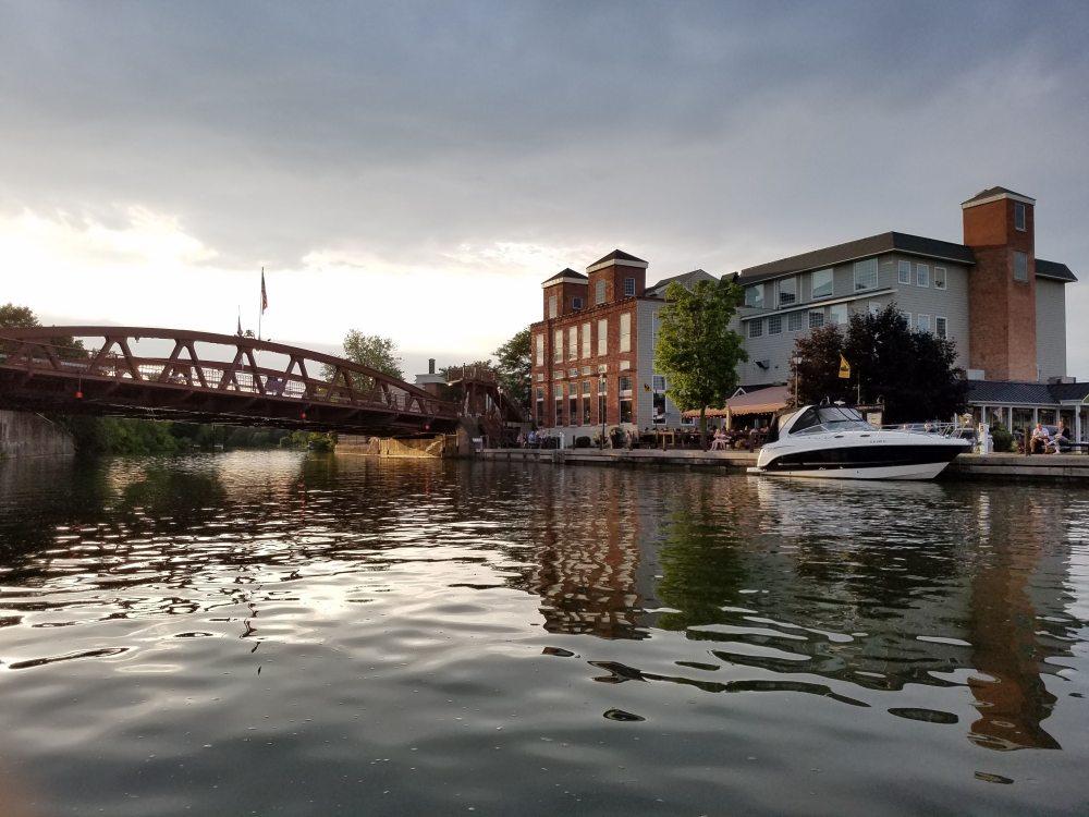 Lovely Fairport, NY after an evening rain.