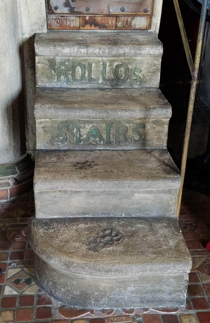 The stairway dedicated to Mercer's dog, Rollo