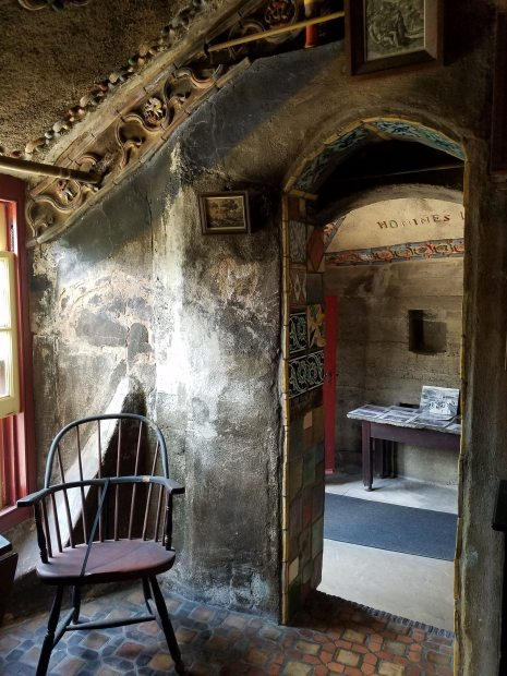 One of the bedrooms in Fonthill Castle
