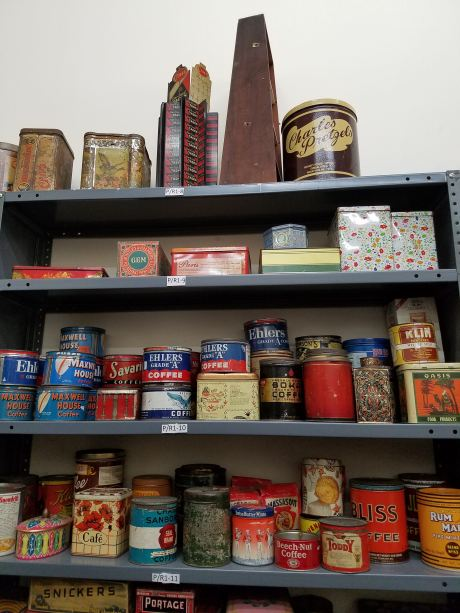 Kitchen tins from throughout the decades