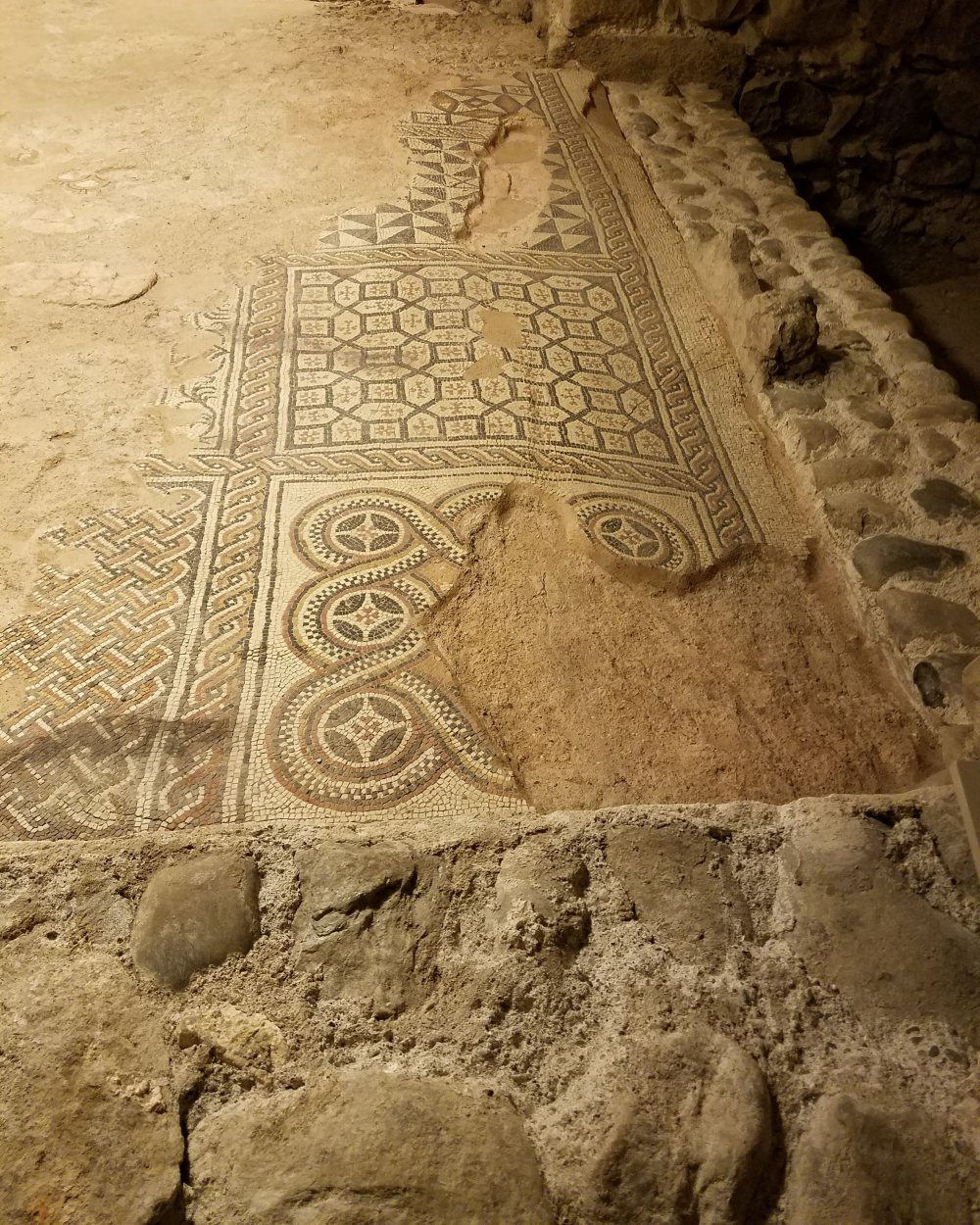 Mosaic Tiles Found Below St. Pierre's Cathedral