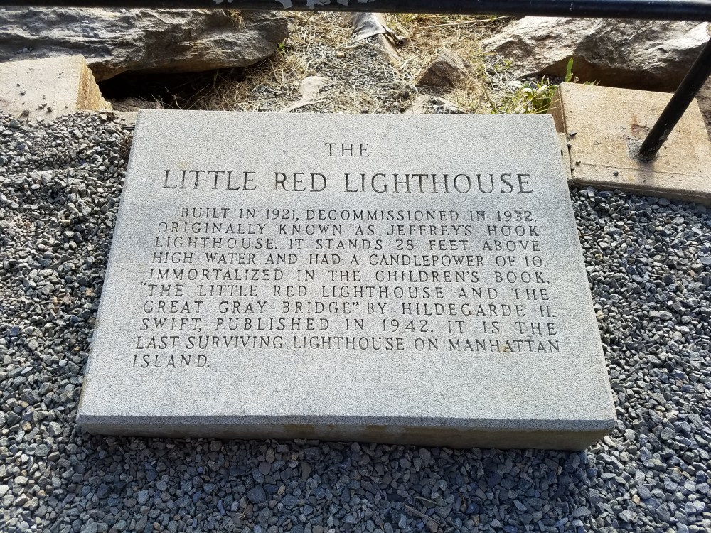 Little Red Lighthouse Plaque