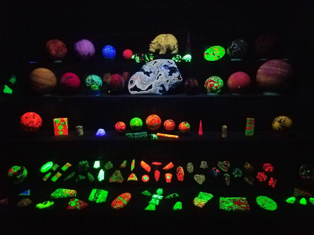 Lots of Fluorescent Rocks