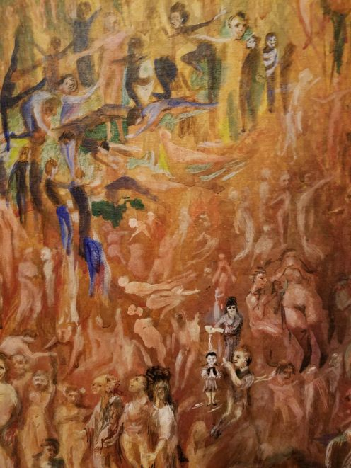 The tiny people in the painting
