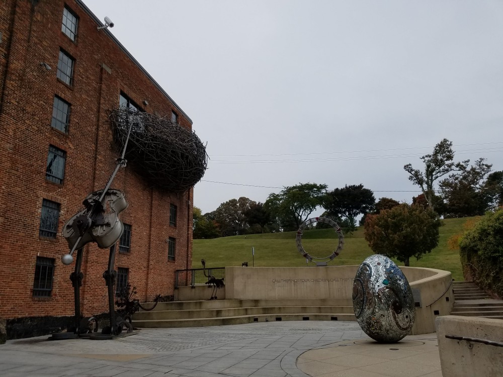 Outside the American Visionary Art Museum