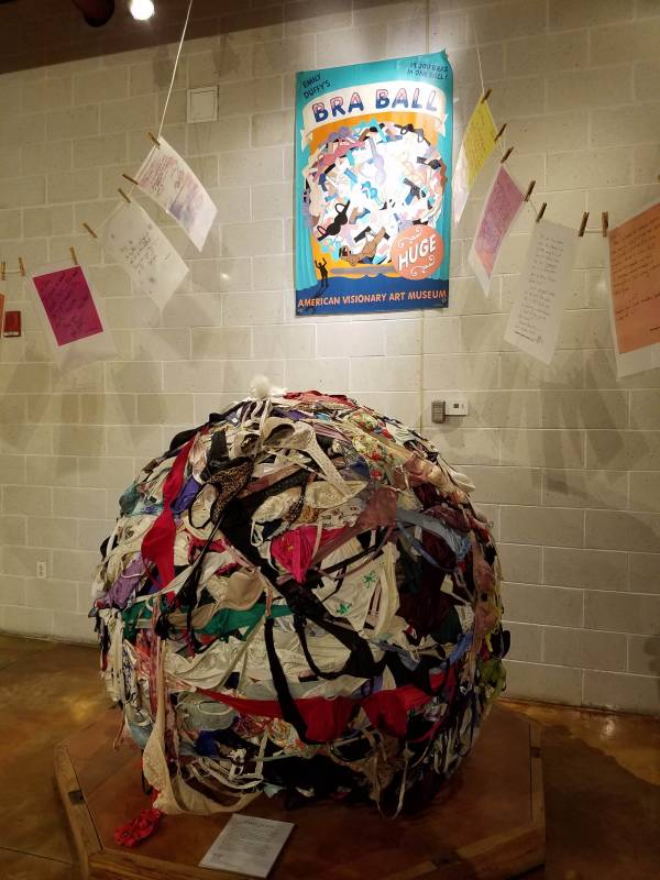 The bra ball at the American Visionary Art Museum