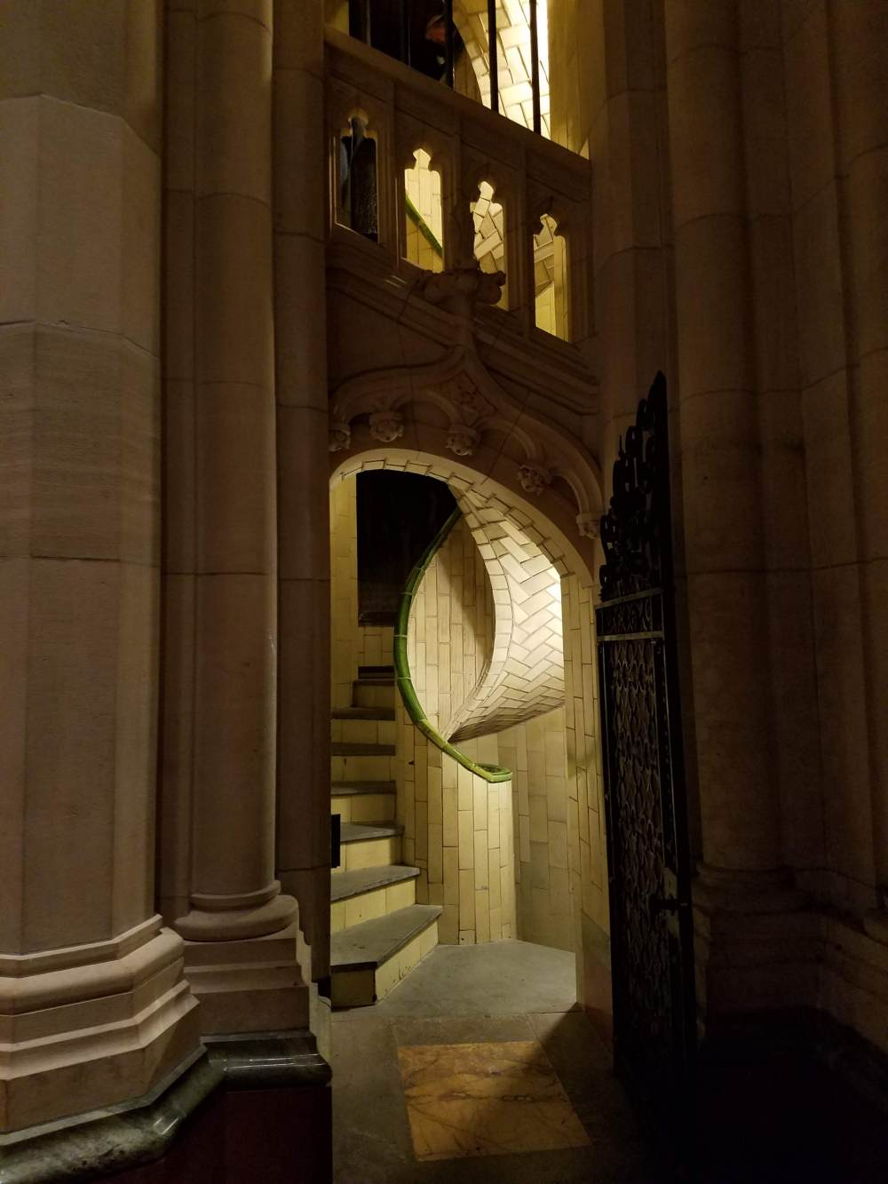 Entering the Guastavino Staircase