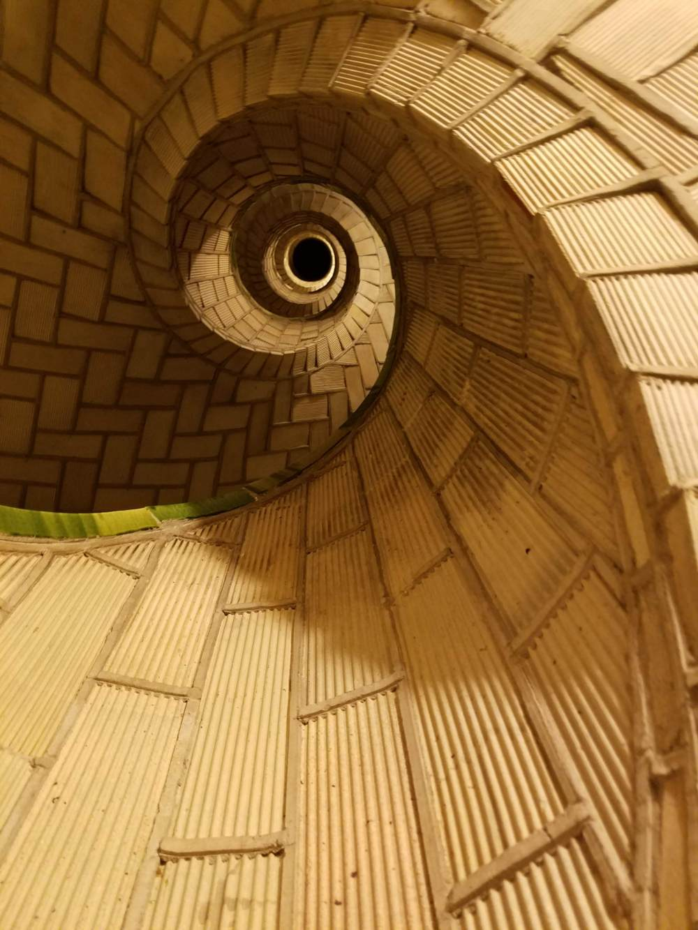 Up into the Guastavino Staircase