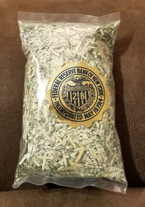 Federal Reserve Shredded Currency