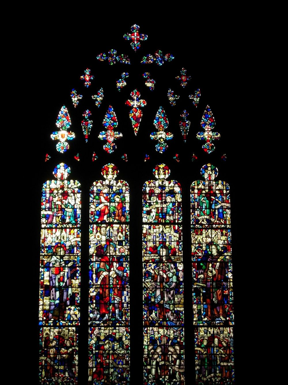 St. John the Divine Stained Glass Dark