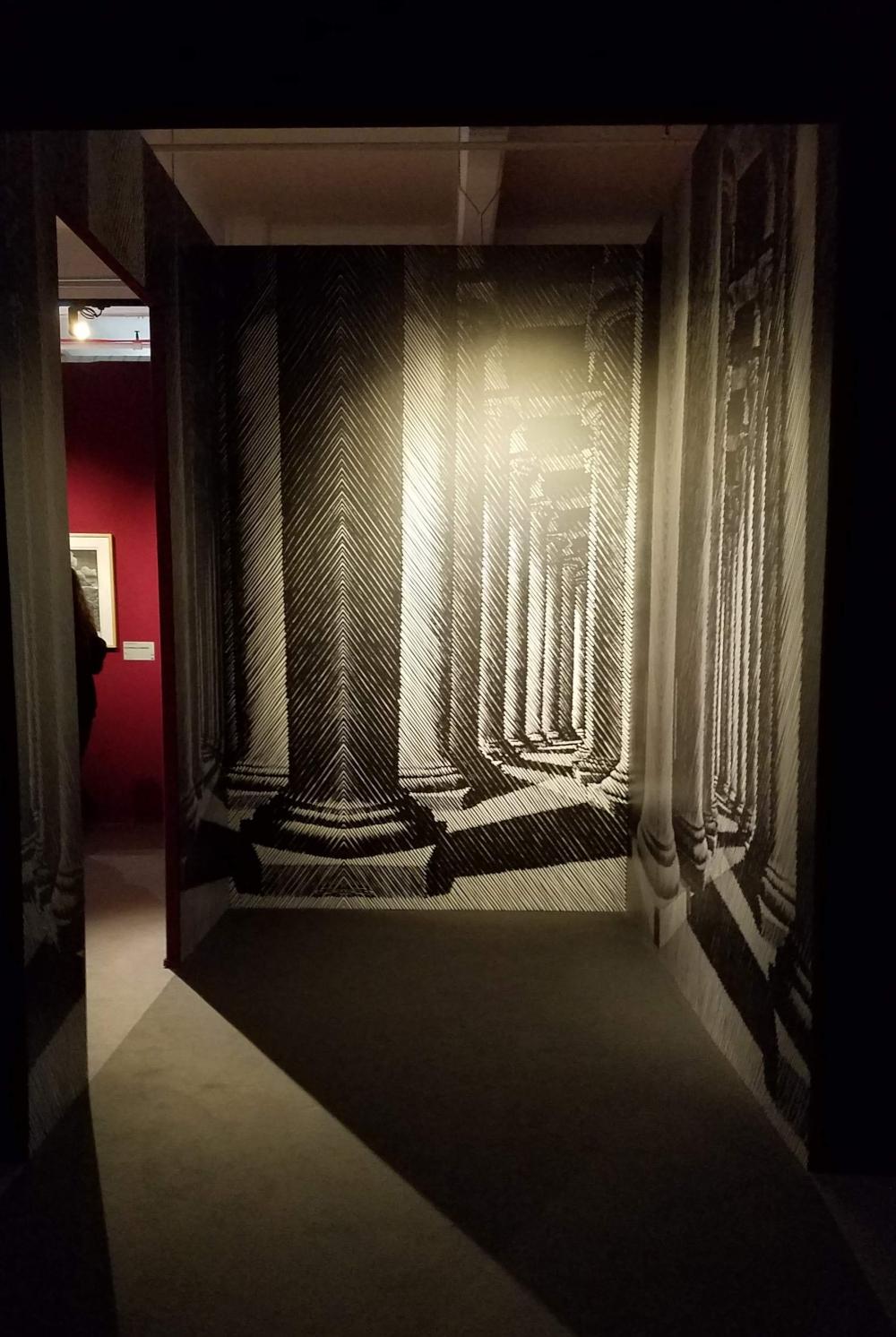 Escher Exhibit Hallway