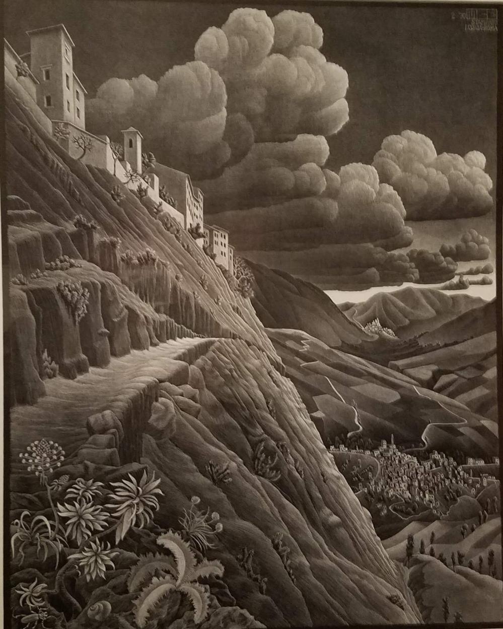 Escher Italian Hillside