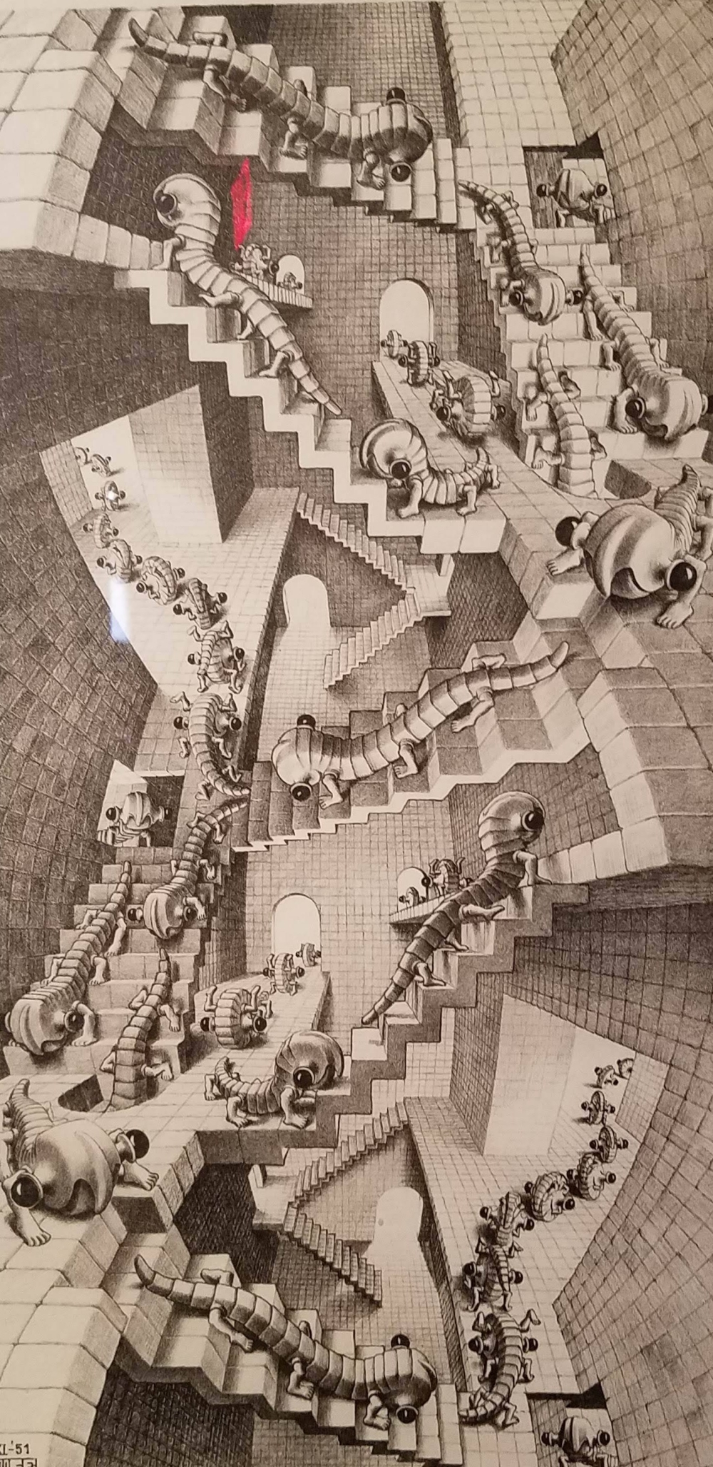 Escher Insects on Stairs