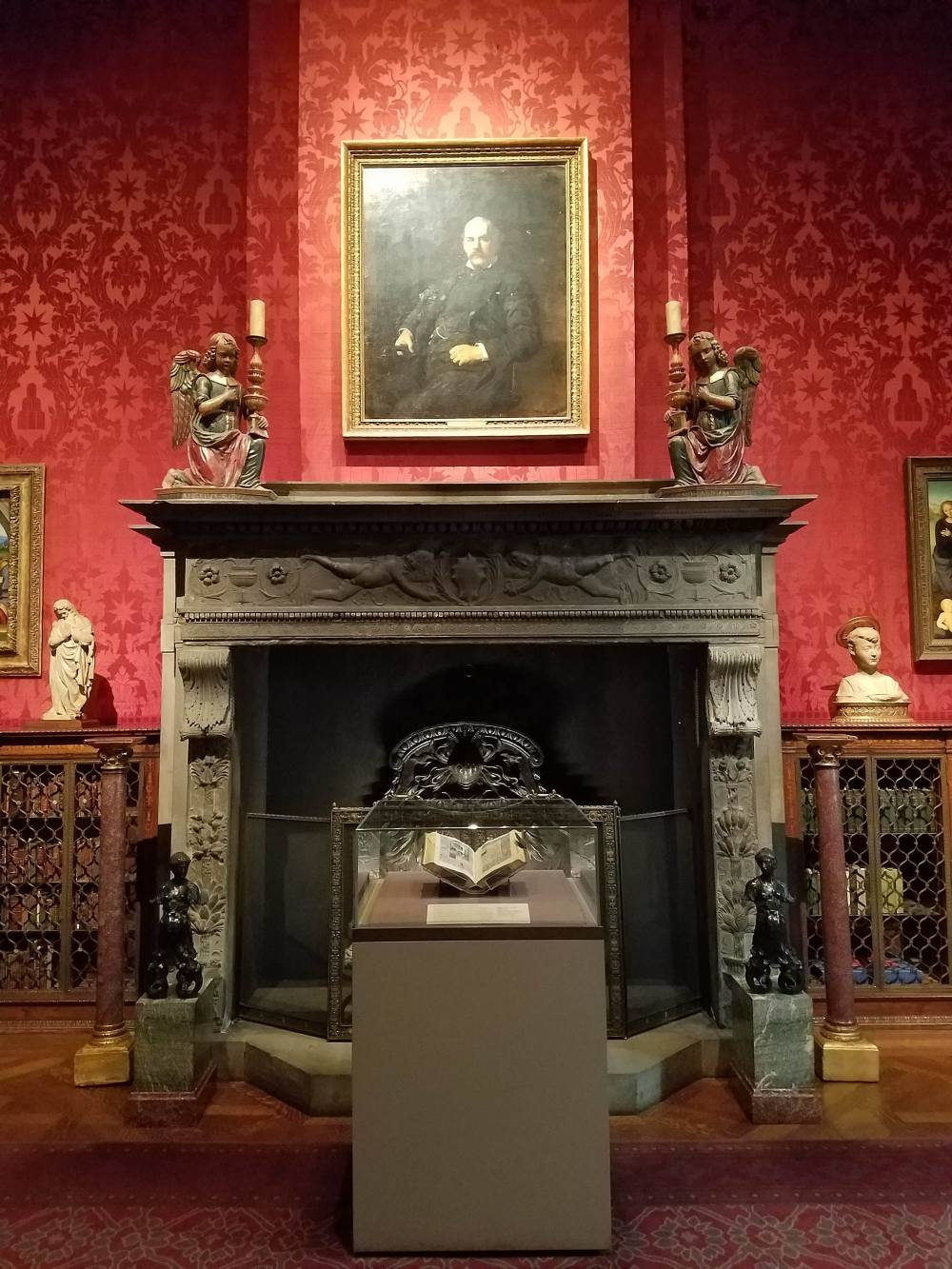 Morgan Library Study Fireplace