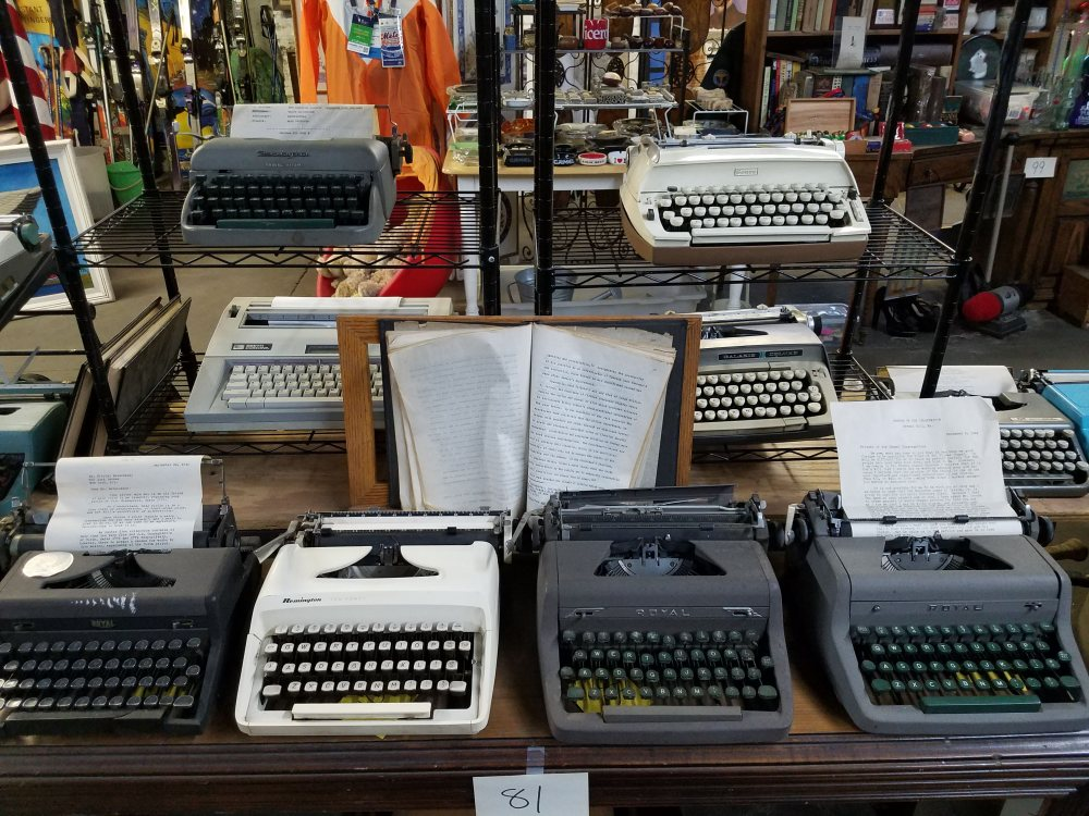 NYC Trash Museum Typewriters