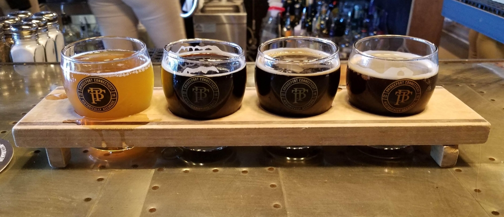 Brewport Connecticut Beer Flight
