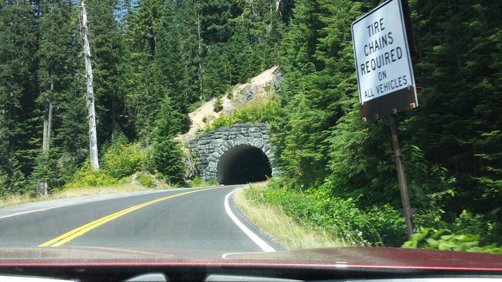 Driving Mt. Rainier