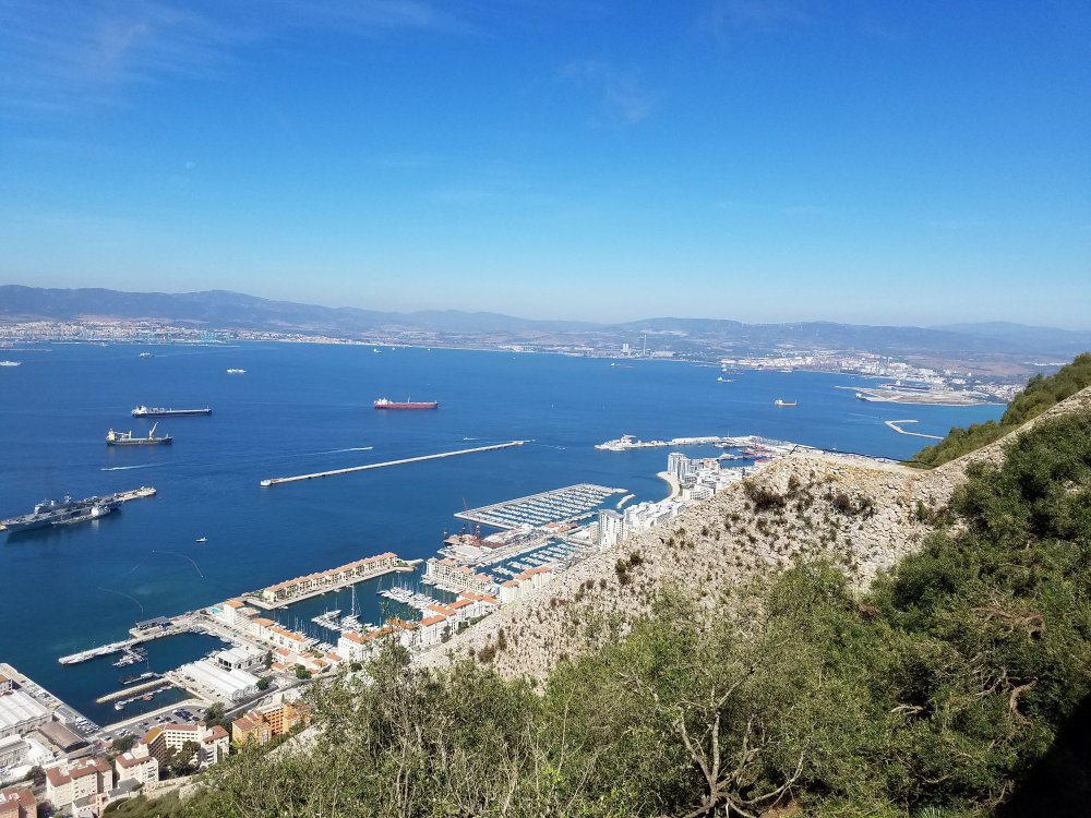 View From Atop Rock of Gibraltar