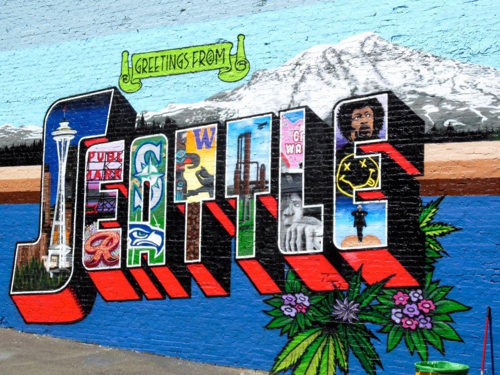 Seattle Postcard Mural