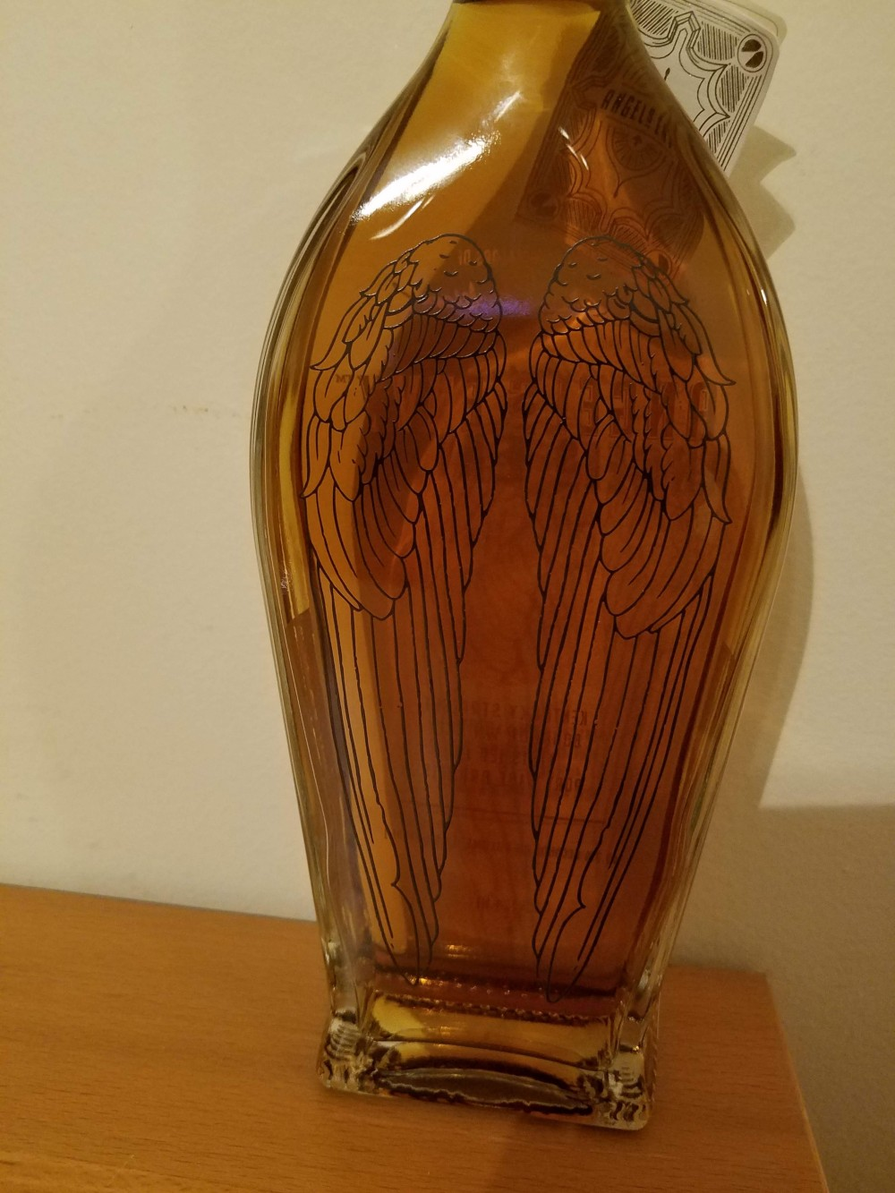 The Back of an Angel's Envy Bottle