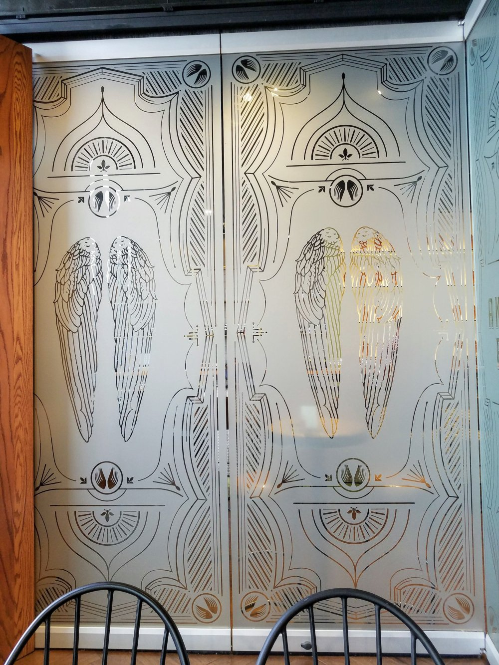 Angel's Envy Distillery Bar Windows